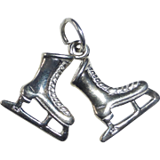 Sterling Silver Women's Ice Skates Charm