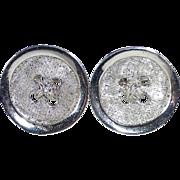 Sterling Silver Button Form Cufflinks