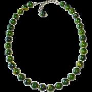 Napier Bakelite Bead Adjustable Necklace on Chain
