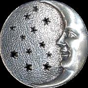 Sterling Crescent Moon & Stars Pendant / Pin Combo