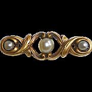 14k Antique Art Nouveau Small Lace Pin