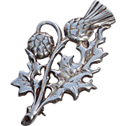 Edinburgh Scotland Sterling Thistle Pin