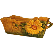 Roseville Window Box Planter Amber Peony 387-8