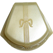 SOLD Dennison Art Deco Ring Box Pearl Celluloid c1920s