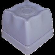 Art Deco Presentation Ring Box Lilac Hard Plastic Velvet Lined