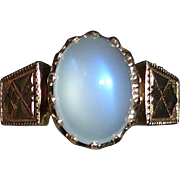 Antique 14k Victorian Rose Gold Moonstone Ring