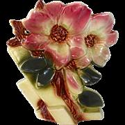 Rare McCoy Pottery Hibiscus Vase c1950s