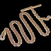 Antique Victorian 10k Rose Gold Watch Chain