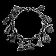 Bell Telephone Sterling Commemorative Charm Bracelet