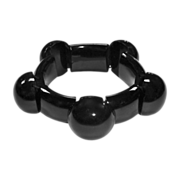 Antique Victorian Aesthetic Movement Black Jet Mourning Bracelet