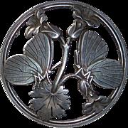 Georg Jensen Denmark Sterling Butterfly Pin #283