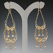 SOLD Fine Gorgeous Bella Couture® Designer Victorian Style Filigree 18K Yellow Gold 1.28CT Di