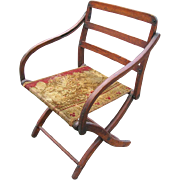 Authentic Civil War Campaign Chair -  Ulysses S. Grant had one just like it - All Original