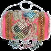 Antique Native Beaded Purse - Iroquois Bead Work