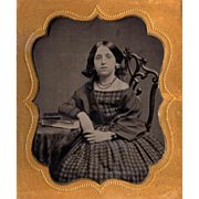 Canadian Teenage Beauty Tintype in Union Beehive Case - ID'd Bride of af an ID ...
