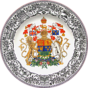 Dominion of Canada Coat of Arms Plate 1922 by Josiah Wedgwood