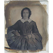 Exotic Woman Ambrotype Possibly African American - 6th Plate