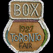 Vintage Iroquois Beaded TORONTO FAIR 1927 Box Purse Souvenir