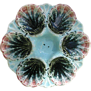Antique Majolica Oyster Plate France c1890