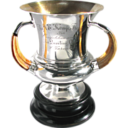 Sterling Silver Boar Tusk Trophy - The A.E. Kemp Trophy for the Toronto Quoiting Club Competit