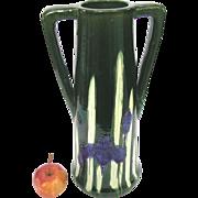 Large Awaji Pottery Iris Vase - c1920 Arts & Crafts - Deco Style