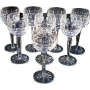 "SOLD Waterford Crystal Hock Glasses ""Kylemore"" Vintage"