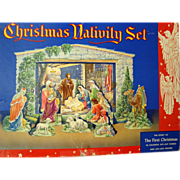 Vintage Christmas Nativity Set - Boxed