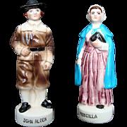 John and Pricilla Alden - Pilgrim - Salt and Pepper, Vintage, New England