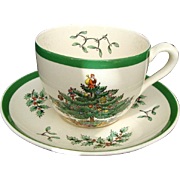 "Vintage Spode ""Christmas Tree"" Cup and Saucer"