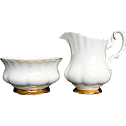 "Milk/Creamer and Open Sugar - ""Val D'or"" - Royal Albert - Vintage"