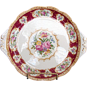 "Vintage ""Lady Hamilton"" Cake Plate by Royal Albert"