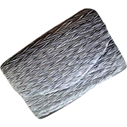 Wonderfully Versatile Grey Fabric Clutch Bag