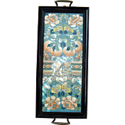 Chinese Arm Bands c1890 Framed as a Tray with Brass Handles