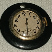 Waltham 1934 17 Jewel Skeleton Pocket Watch in Bakelite Case