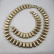 1940s Machine Age Set - Necklace & Bracelet