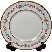 Beautiful French Limoges Dinner Plate from Raynaud & Co.  Mixed Floral Pattern with Gold Trim.