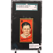 REDUCED T205 Mordecai Brown-Hall of Famer-SGC grade 50 VG/EX 4