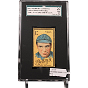 REDUCED T205 RICHARD HOBLITZELL - 'Cin.'' After 2nd 1908 in Stats SGC grade 20 FAIR 1.5