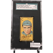 REDUCED T205 RICHARD HOBLITZELL - 'Cin.'' After 2nd 1908 in Stats SGC grade 35 GOOD+ 2.5