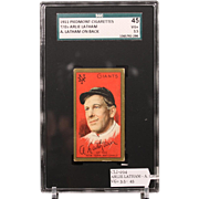 REDUCED T205 ARLIE LATHAM - A. Latham on Back SGC grade 45 VG+ 3.5