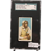 REDUCED T206 RED KLEINOW - New York, Catching SGC grade 45 VG+ 3.5