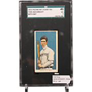 REDUCED T206 JACK KNIGHT - With Bat SGC grade 40 VG 3
