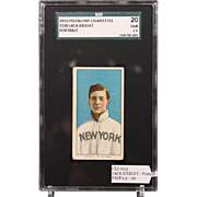 REDUCED T206 JACK KNIGHT - Portrait SGC grade 20 FAIR 1.5