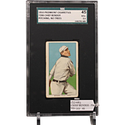 REDUCED T206 CHIEF BENDER - Pitching, no Trees SGC grade 45 VG+ 3.5