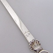 Stephen Adams Shell Meat Skewer Georgian 1781 Sterling Silver