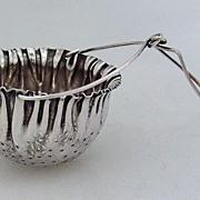 Tea Strainer Basket Spout Gorham Sterling Silver 1890