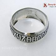 Alphabet Sterling Silver Napkin Ring Reed & Barton 1910