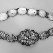 Russian Niello Belt Caucasus КАВКАЗ 84 Standard Silver 1900