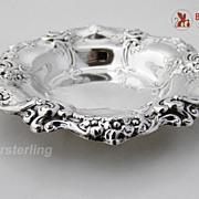 Gorham Rose And Scroll Bon Bon Dish Sterling Silver 1956