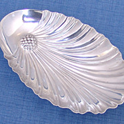 Shell Serving DIsh Stylized Sterling Silver 1940